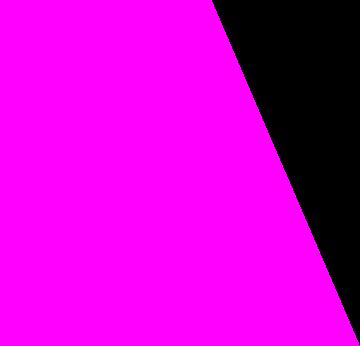 Colored overlay shape